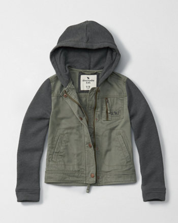 kids military twofer jacket