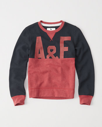 kids colorblock crew sweatshirt