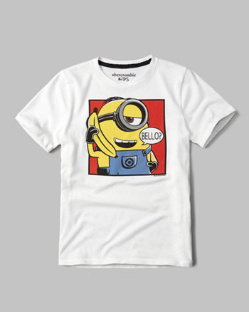 kids banana minion graphic tee