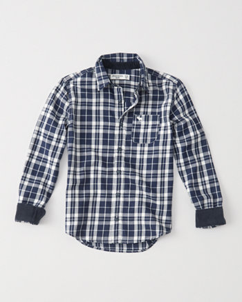 kids long-sleeve plaid shirt