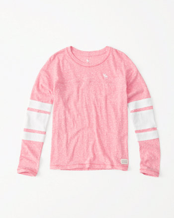 kids long-sleeve sporty football tee