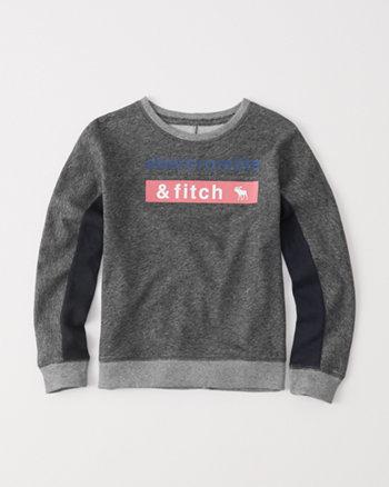 kids colorblock crew sweatshirt