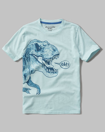 kids color changing dino graphic tee