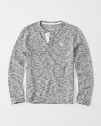 kids sweater knit henley
