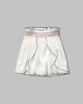 kids smocked tulip skirt