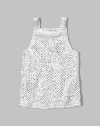 kids knit fringe sweater tank