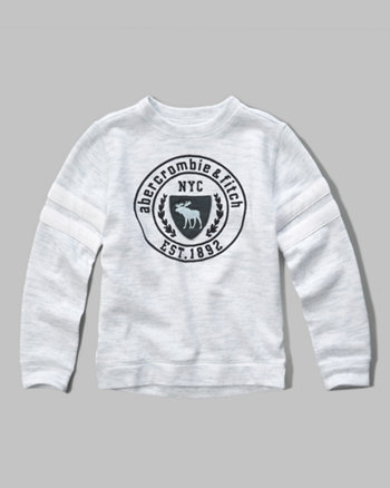 kids athletic graphic crew sweatshirt
