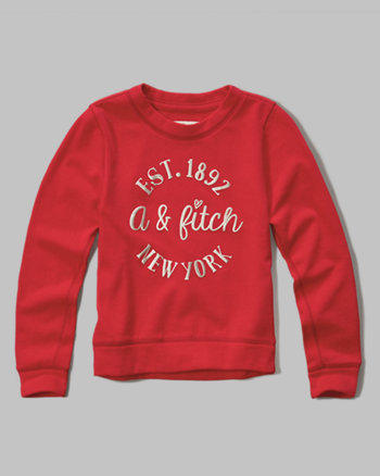 kids shine logo graphic sweatshirt