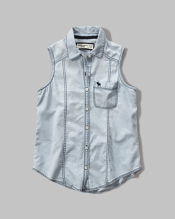 kids chambray tunic shirt