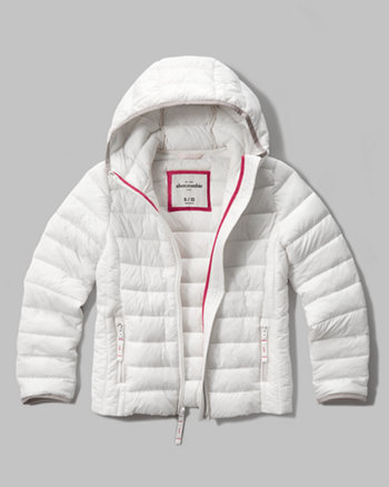 kids hooded lightweight puffer