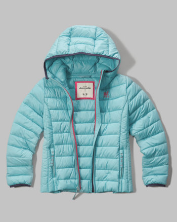 kids hooded lightweight puffer