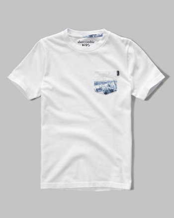 kids pocket tee