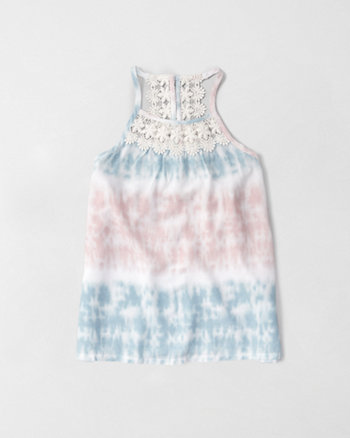 kids lace back cami