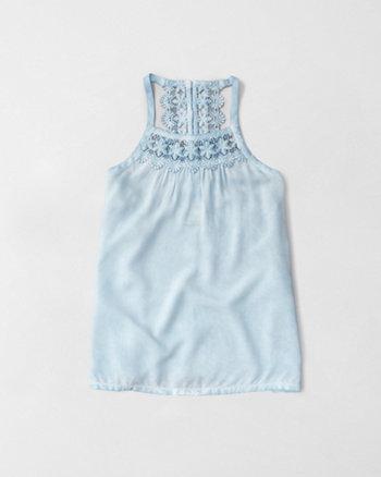kids lace back cami