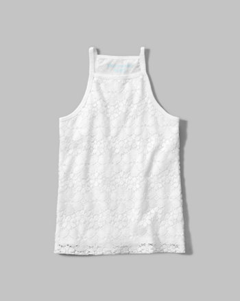 kids lace high neck tank