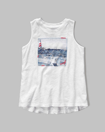 kids nautical muscle tank