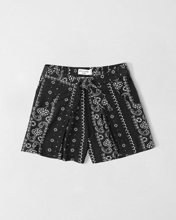 kids printed knit shorts