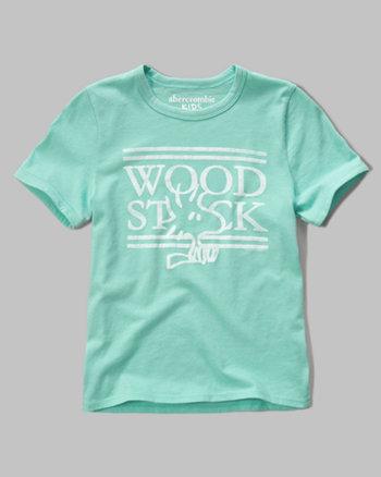 kids woodstock graphic tee
