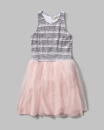 kids patterned tutu dress
