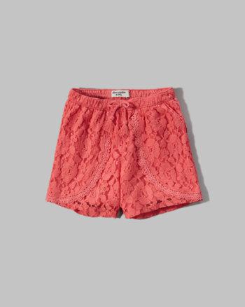 kids lace tulip shorts