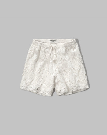 kids lace tulip soft shorts