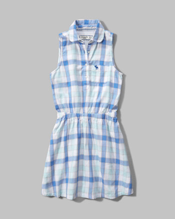 kids plaid shirt dress