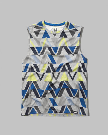 kids sleeveless active tee