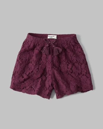 kids lace tulip shorts