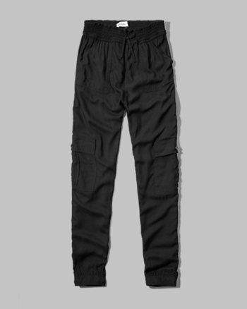 kids drapey cargo pants