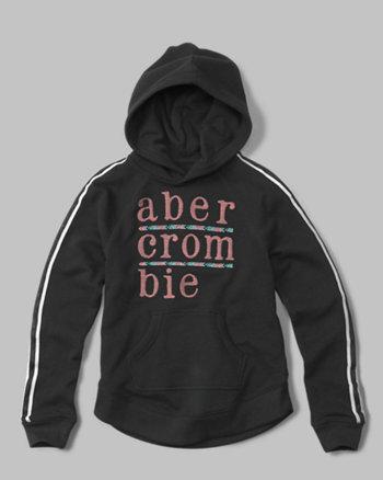 kids applique logo hoodie