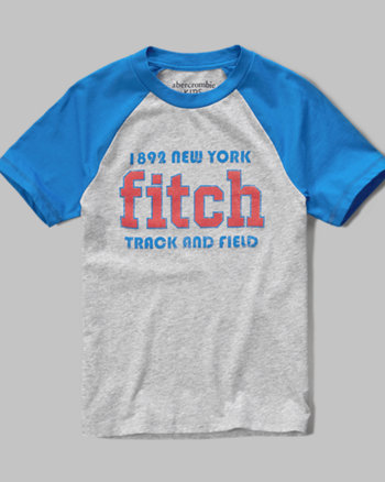 kids logo graphic baseball tee