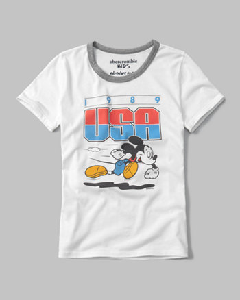 kids disney usa graphic tee