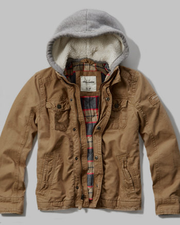 kids hooded utility jacket