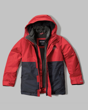 kids a&f all-weather double zip jacket