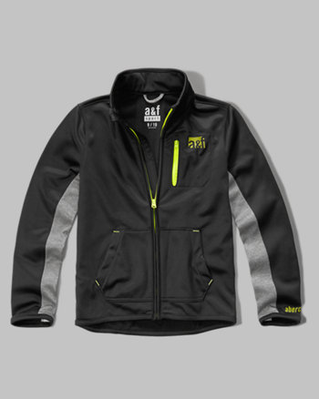 kids a&f sport mock neck full zip jacket