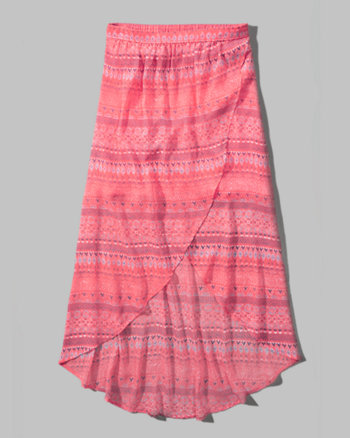 kids printed chiffon maxi skirt