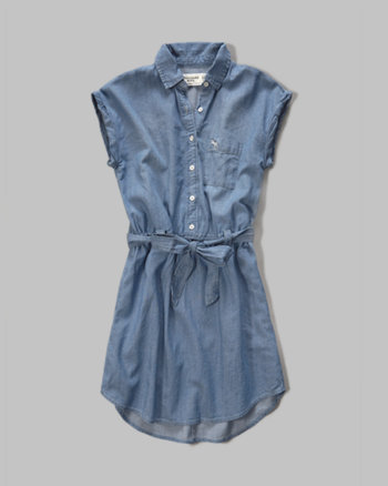 kids chambray shirt dress