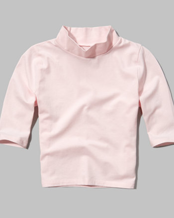 kids mock neck crop top