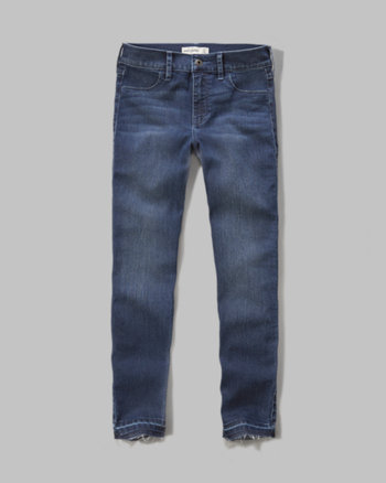 kids a&f high rise super skinny crop