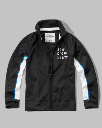 kids mockneck graphic full-zip jacket