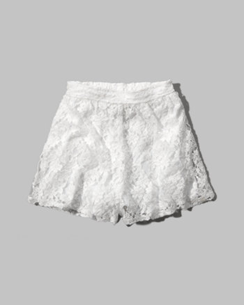 kids lace culotte shorts