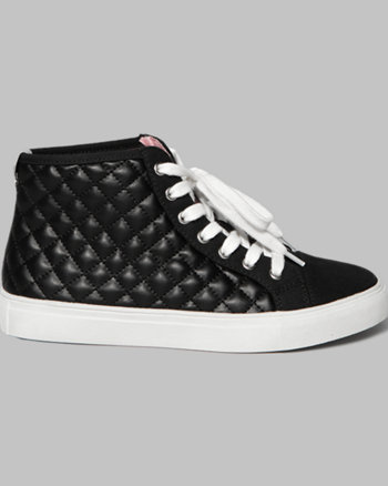 kids a&f quilted high-top sneakers
