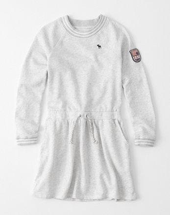kids sporty fleece dress