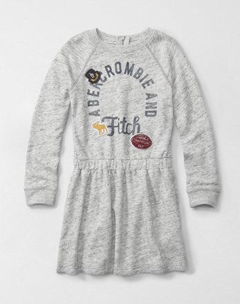 kids graphic sweatshirt dress