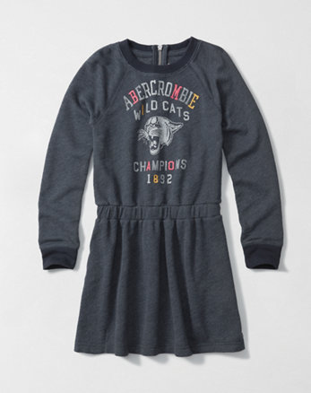 kids graphic sweatshirt dress