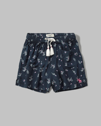 kids patterned soft shorts