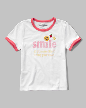 kids embroidered graphic tee