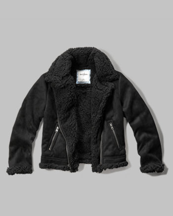kids faux shearling aviator jacket