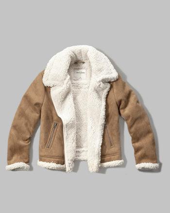 kids faux shearling aviator jacket