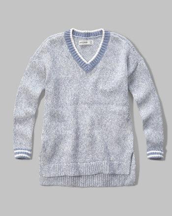 kids patterned v-neck sweater